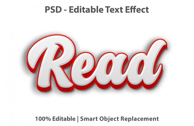 Bewerkbaar teksteffect gelezen