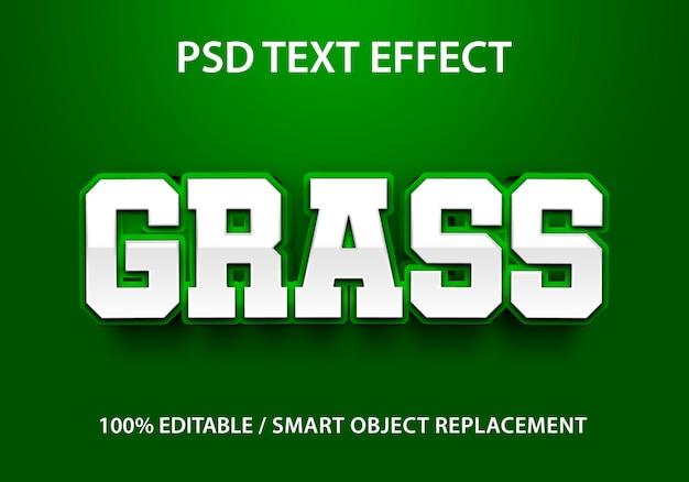 Bewerkbaar teksteffect gras
