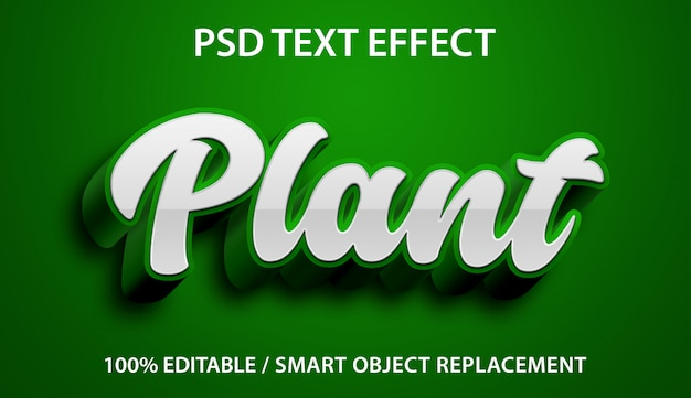 Bewerkbaar teksteffect groene plant