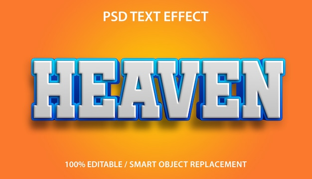 Bewerkbaar teksteffect heaven