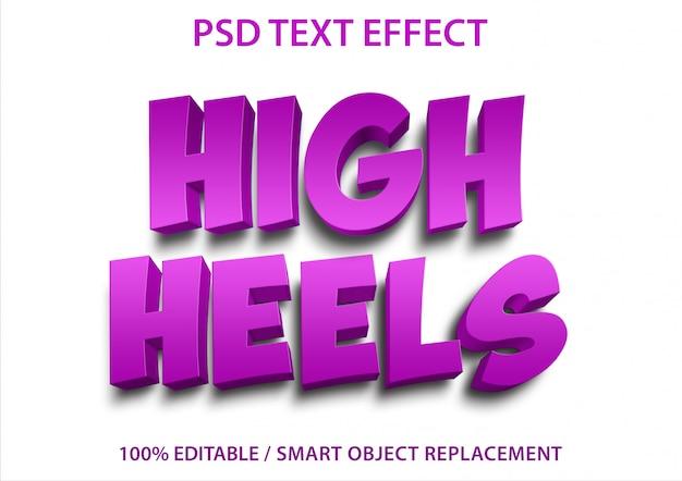 Bewerkbaar teksteffect hoge hakken