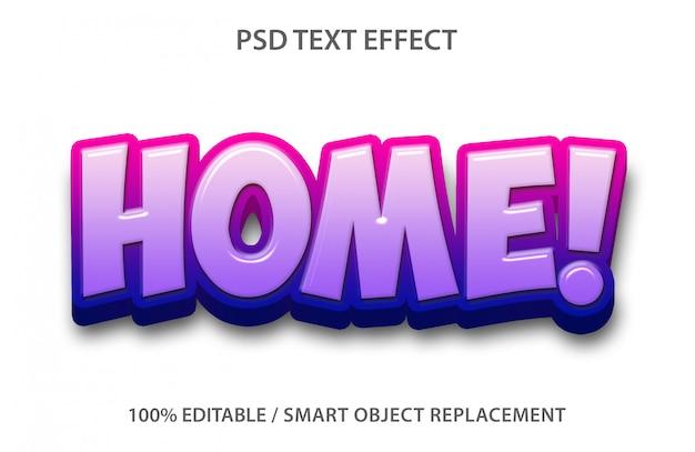 Bewerkbaar teksteffect home