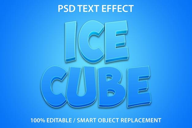 Bewerkbaar teksteffect ice cube
