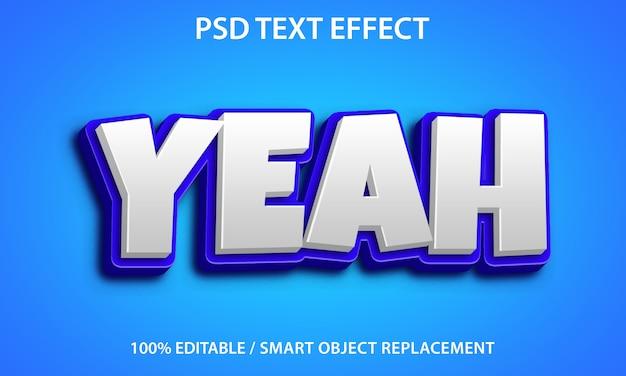 Bewerkbaar teksteffect ja