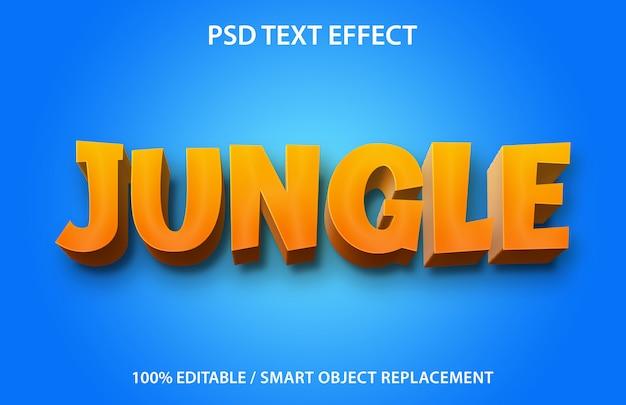 Bewerkbaar teksteffect jungle