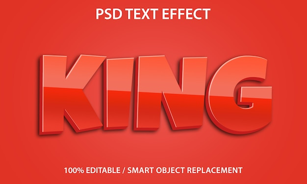 Bewerkbaar teksteffect king premium
