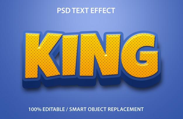 Bewerkbaar teksteffect king