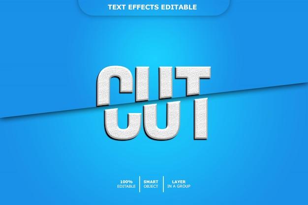 Bewerkbaar teksteffect - knippen