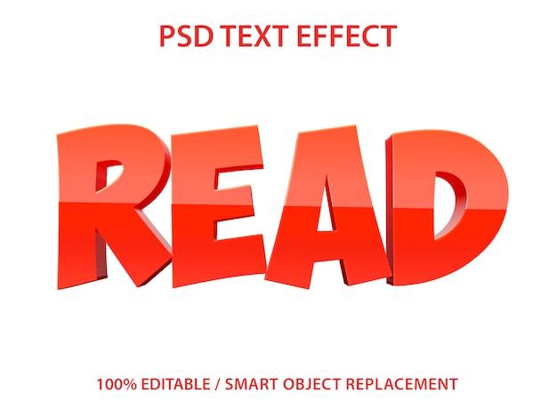 Bewerkbaar teksteffect lezen
