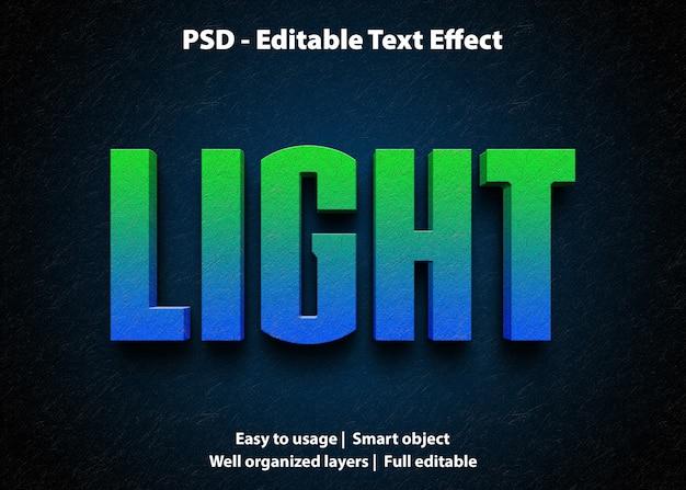 Bewerkbaar teksteffect licht