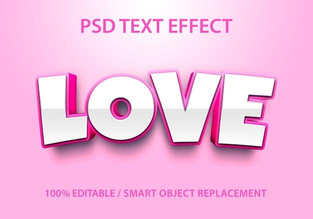 Bewerkbaar teksteffect liefde