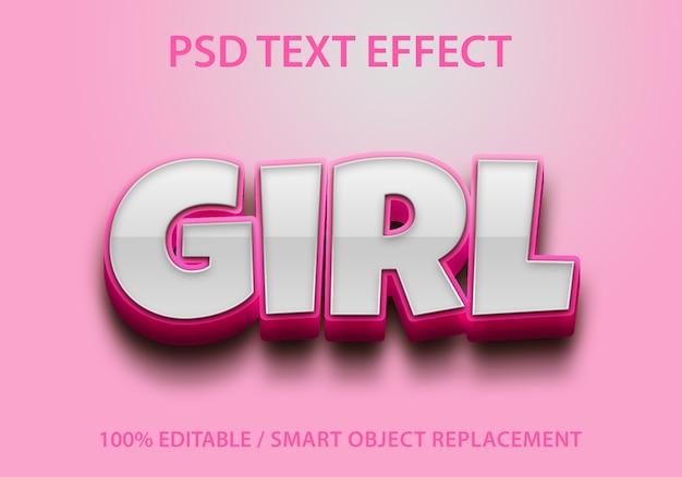 Bewerkbaar teksteffect meisje