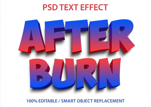Bewerkbaar teksteffect na branden