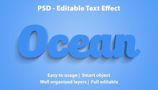 Bewerkbaar teksteffect ocean premium