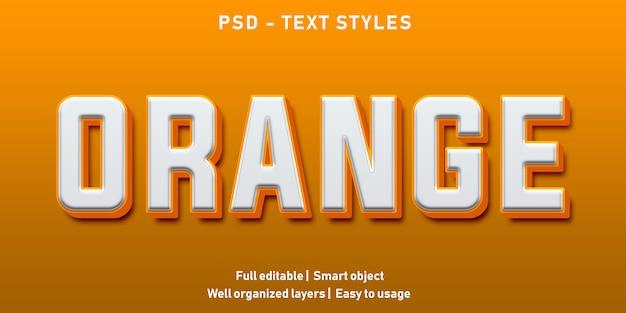 Bewerkbaar teksteffect orange premium