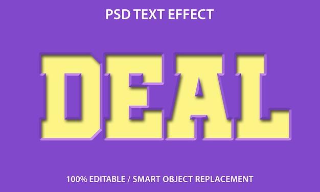 Bewerkbaar teksteffect paper deal