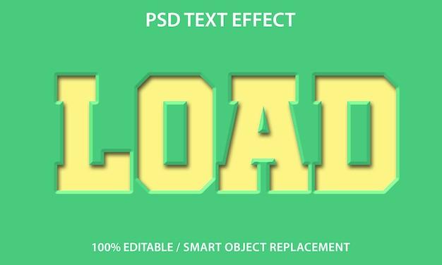Bewerkbaar teksteffect papier laden