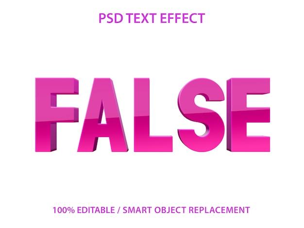 Bewerkbaar teksteffect purple false premium