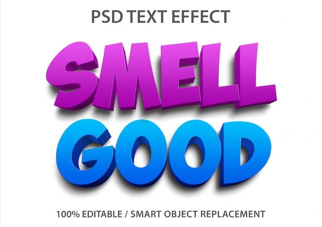 Bewerkbaar teksteffect ruikt goed