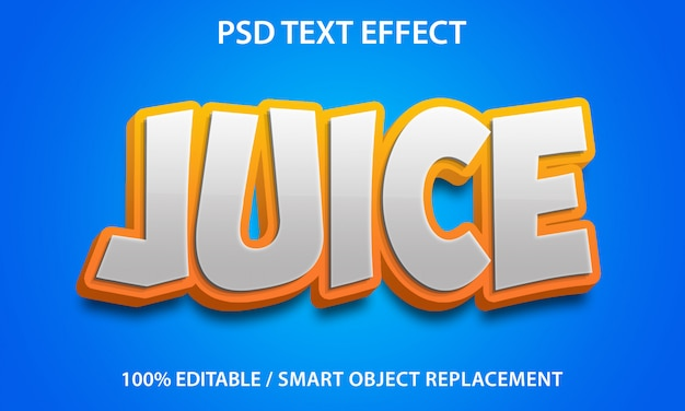 Bewerkbaar teksteffect sap