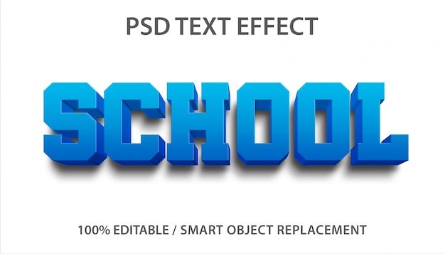 Bewerkbaar teksteffect school premium