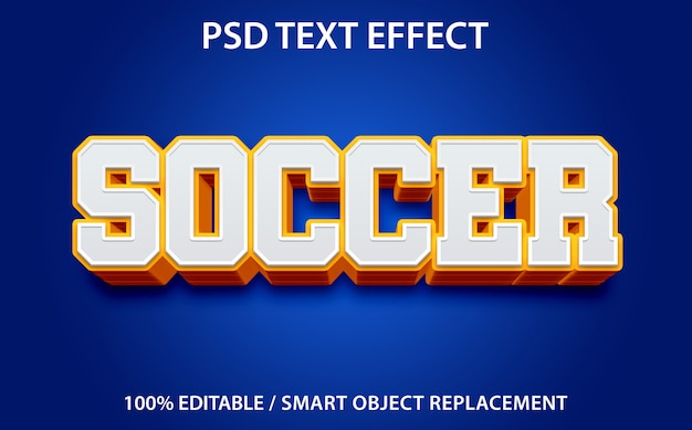 Bewerkbaar teksteffect soccer premium