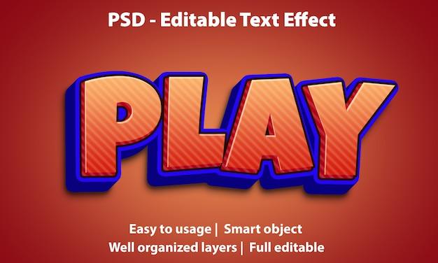 Bewerkbaar teksteffect speel premium