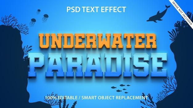 Bewerkbaar teksteffect underwater paradise
