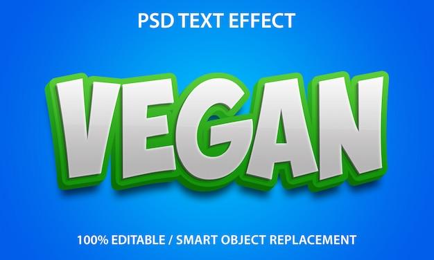 Bewerkbaar teksteffect vegan