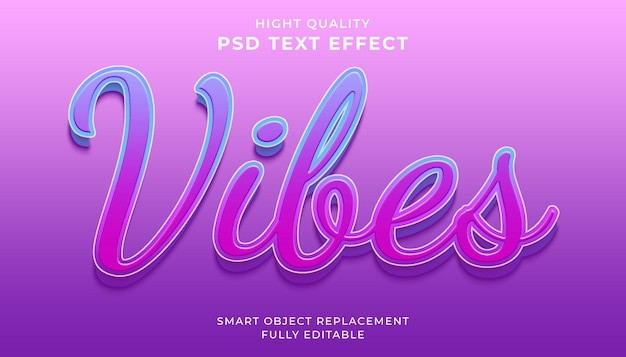 Bewerkbaar teksteffect, vibes