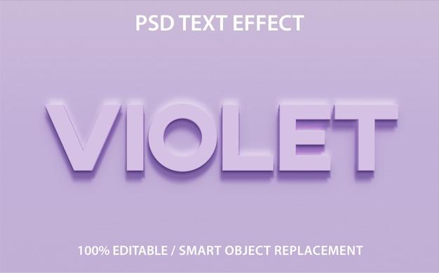 Bewerkbaar teksteffect violet