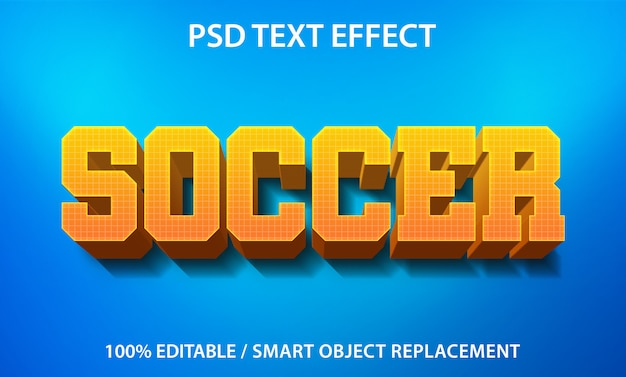 Bewerkbaar teksteffect voetbal
