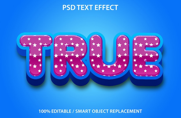 Bewerkbaar teksteffect waar