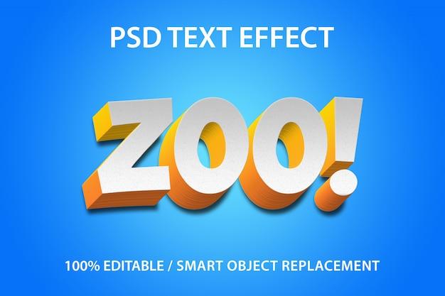 Bewerkbaar teksteffect zoo