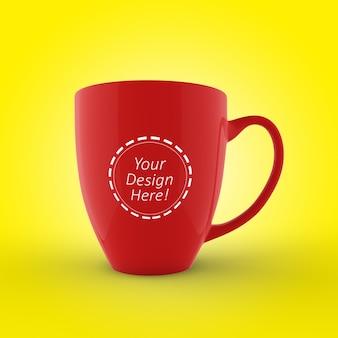 Bewerkbare cafe mok mockup ontwerpsjabloon