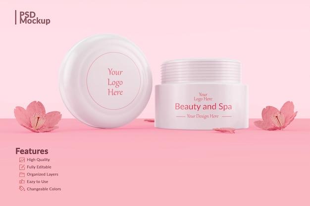 Bewerkbare cosmetische potmodel