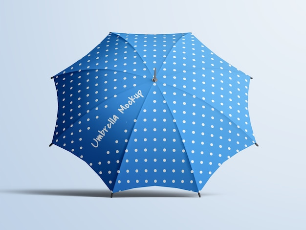 Bewerkbare geopende paraplu mockup geïsoleerd