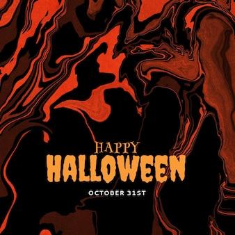 Bewerkbare happy halloween-postsjabloon