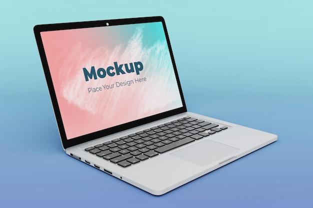 Bewerkbare laptop scherm mockup ontwerpsjabloon