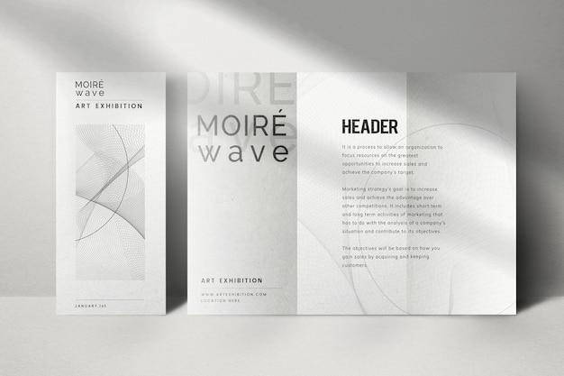 Bewerkbare poster mockup psd met in drieën gevouwen brochure