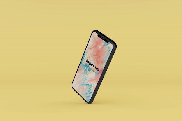 Bewerkbare realistische mobiele mockup ontwerpsjabloon