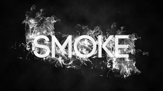 Bewerkbare rookteksteffect psd-sjabloon