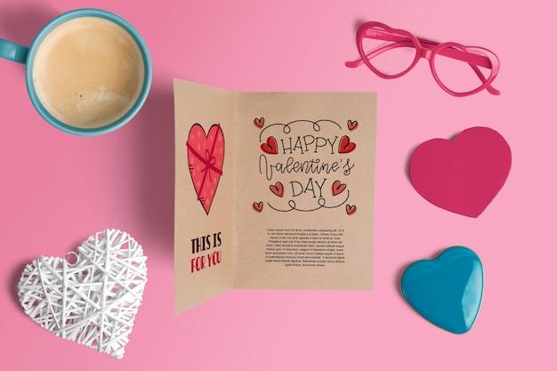 Bewerkbare scène maker mockup met valentijnsdag concept
