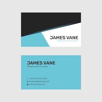 Bewerkbare sjabloon voor visitekaartjes psd in modern design