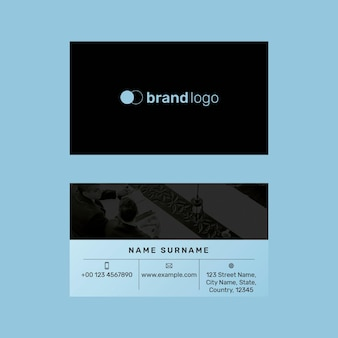 Bewerkbare sjabloon voor visitekaartjes psd modern ontwerp