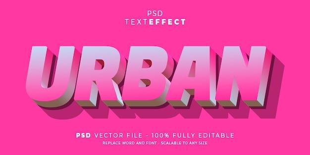 Bewerkbare stijlsjabloon voor tekst en lettertype-effect