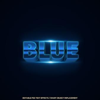 Bewerkbare tekst in 3d-blauwe stijleffect