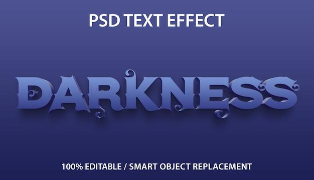Bewerkbare teksteffect duisternis sjabloon