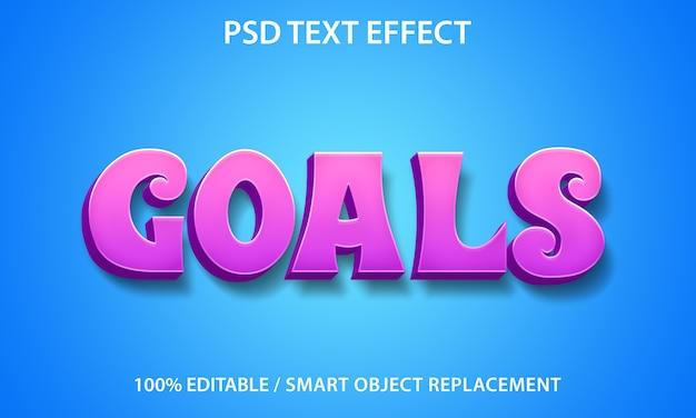 Bewerkbare teksteffectdoelen-sjabloon