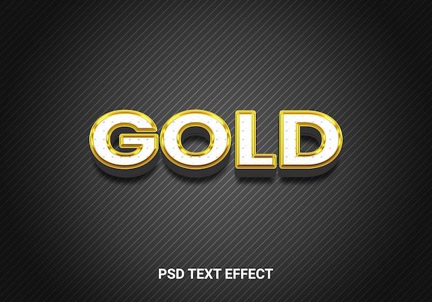 Bewerkbare teksteffecten in zwartgouden stijl